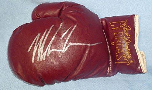 Vintage Boxing Memorabilia - Mike Tyson Signed Vintage Jack Dempsey Everlast Boxing Glove COA Auto L - PSA/DNA Certified - Autographed Boxing Gloves