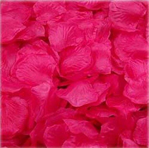 Rose Bouquet Hot Pink (1000pcs Hot Pink Silk Rose Petals Bouquet Artificial Flower Wedding Party Aisle Decor Tabl Scatters Confett)