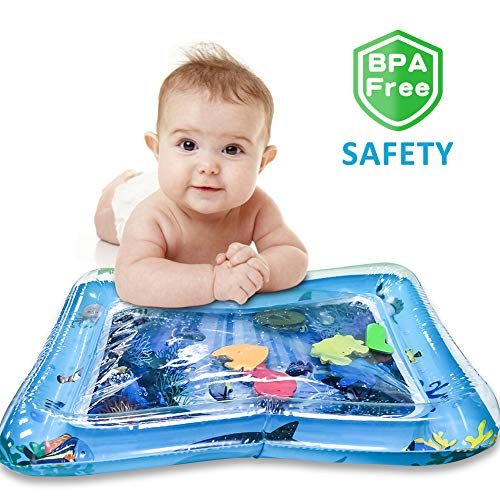 Tummy Time Inflatable Baby Water Play Mat Infant Toddler Fun Activity Play Center for Kids of 3 Months Babies Boys Girls Water Play Mat BPA Free, The Perfect Gifts to Promote Development for Your Baby -