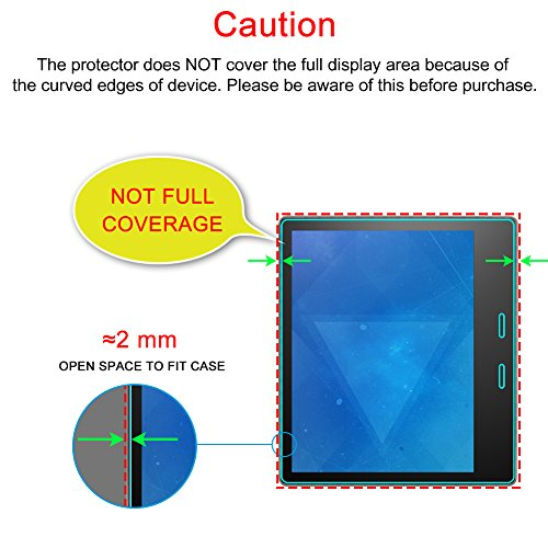 J&D Compatible for 3-Pack All-New Kindle Oasis 2017 Screen Protector, [Not Full Coverage] Premium HD Clear Film Shield Screen Protector for All-New Kindle Oasis 2017 Crystal Clear Screen Protector