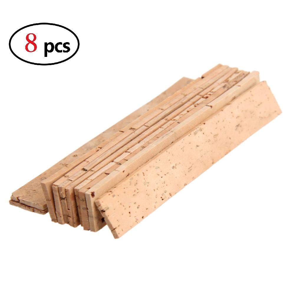 elegantstunning 10 Pcs/Set Bb Clarinet Joint Cork 81 x 11 x 2 mm (8pcs)