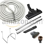 Deluxe 50' Central Vac Vacuum Hose and Attachment Kit