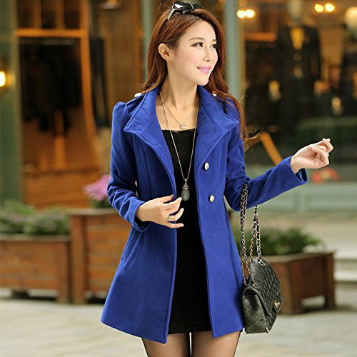 Color Slim Solid PO Blue Collar Medium XL length button Coat Windbreaker Big size DYF qZRtBt
