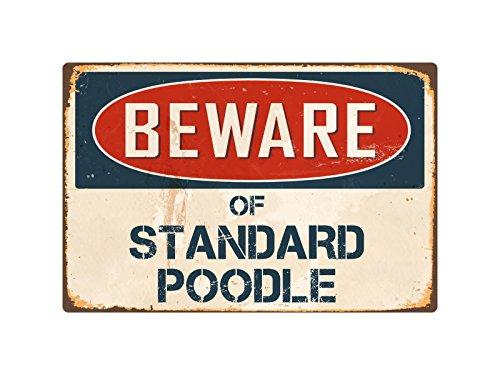 "Beware Of Standard Poodle 8"" x 12"" Vintage Aluminum Retro Metal Sign VS405 51w9Sa6Os7L"