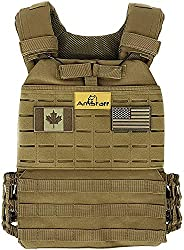 AmStaff Fitness Tactical Adjustable Weighted Vest
