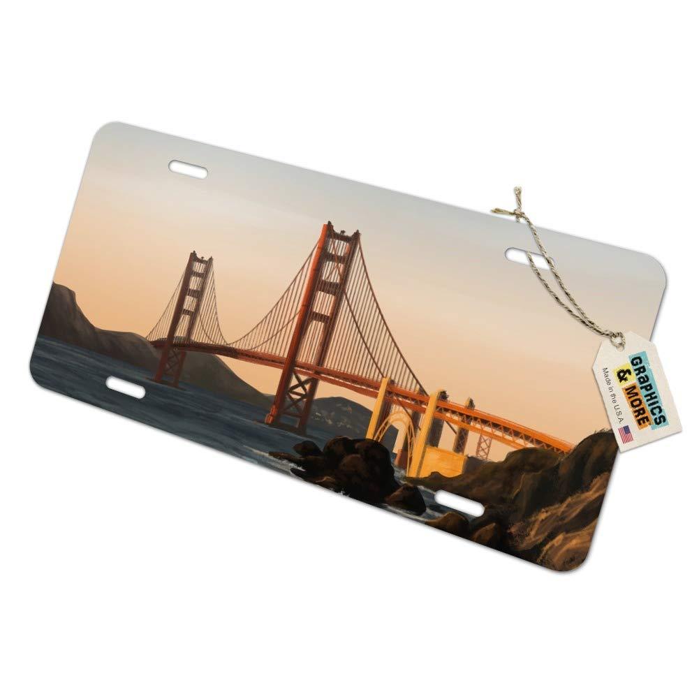 graphique et plus Golden Gate Bridge de San Francisco fantaisie en m/étal Vanity Tag plaque dimmatriculation