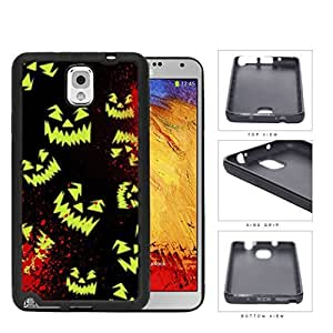 Halloween Scary Face Glow And Blood Splatter Rubber Silicone TPU Cell Phone Case Samsung Galaxy Note 3 III N9000 N9002 N9005