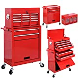Alitop Removable Top Chest Box Rolling Tool Storage Cabinet Sliding