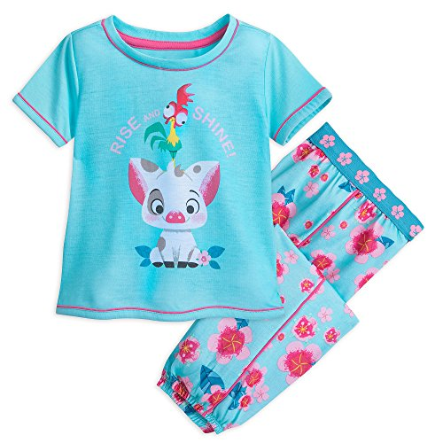 Disney Pua and HEI HEI PJ Set for Girls - Moana Size 7/8 Multi