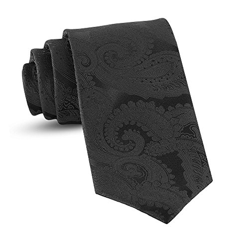 Handmade Paisley Ties For Men Skinny Woven Slim Black Mens Tie: Thin Necktie, Stylish Neckties For Every Outfit from LUTHER PIKE SEATTLE
