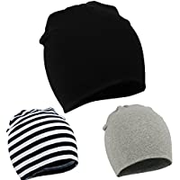 Zando Toddler Infant Baby Cotton Soft Cute Knit Kids Hat Beanies Cap A 3 Pack...