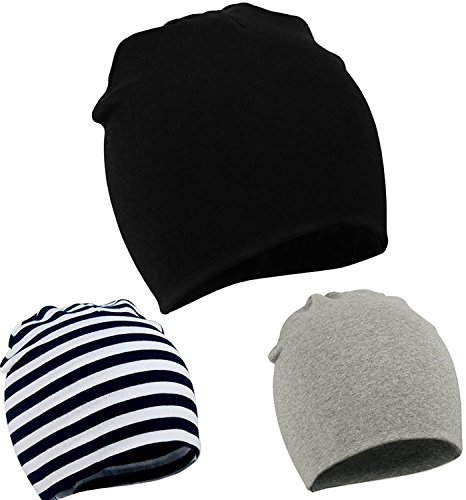 Cotton Knit Beanie - Zando Toddler Infant Baby Cotton Soft Cute Knit Kids Hat Beanies Cap A 3 Pack-Mix Color2