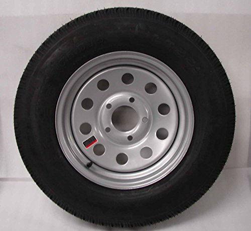 15-Silver-Mod-Trailer-Wheel-with-Bias-ST20575D15-Tire-Mounted-5x45-bolt-circle