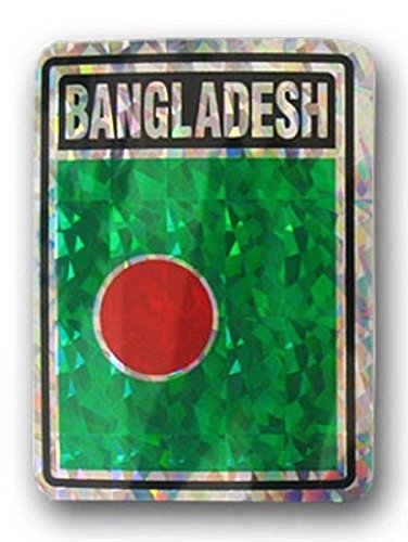 (ALBATROS (Pack of 12) Bangladesh Country Flag Reflective Decal Bumper Sticker for Home and Parades, Official Party, All Weather Indoors Outdoors )