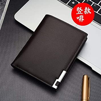 2017 Fashion Simple Classic Mens Business Leather Wallet Brand Card Holder Male Carteras Purses Wallets for