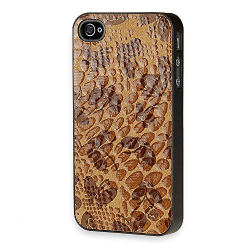 Telileo Back Case - Apple iPhone 4 - Butterflys Braun
