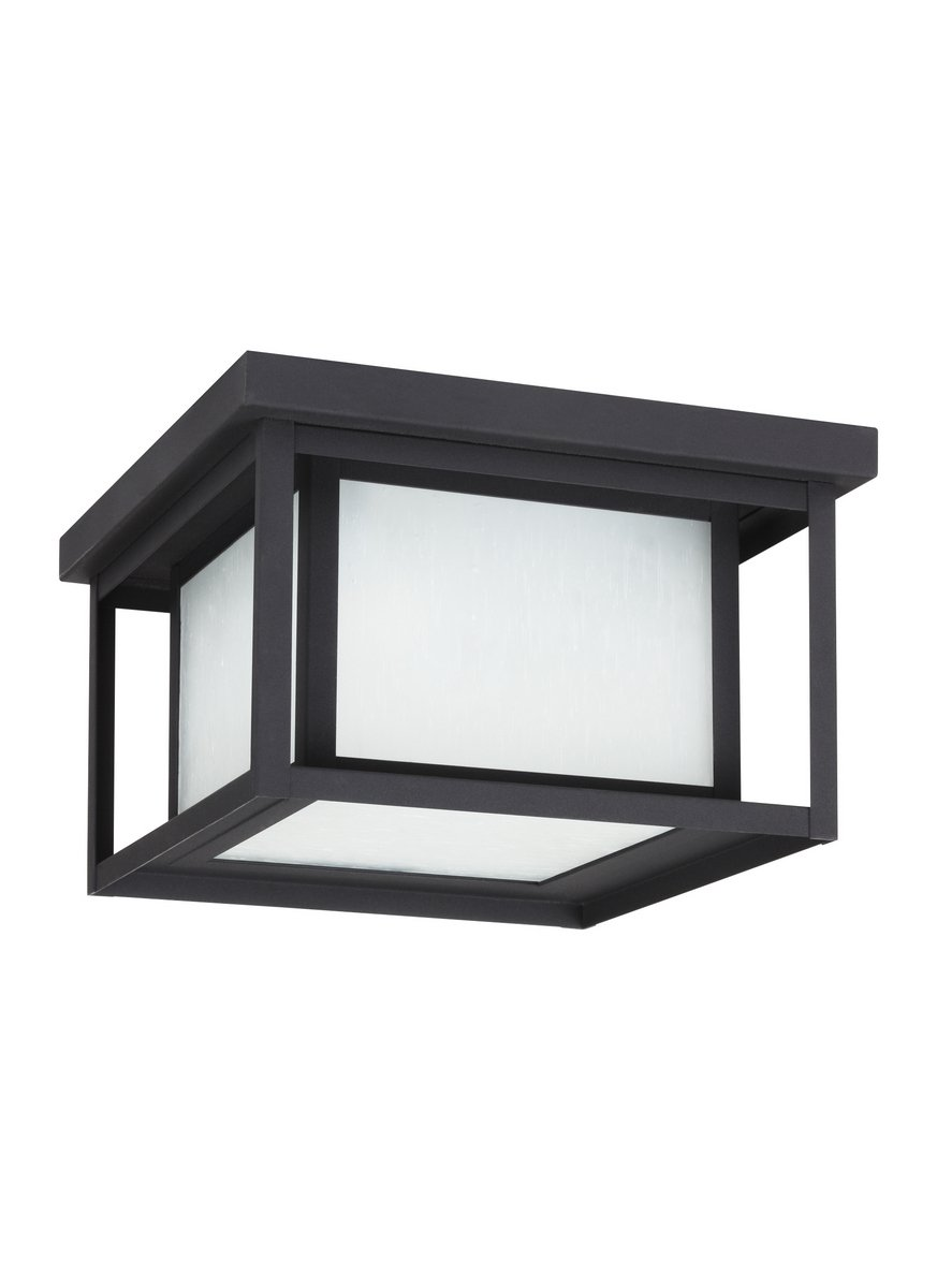 Sea Gull Lighting 79039-12 Hunnington Outdoor Fixture, Two-Light, Black Finish by Sea Gull Lighting
