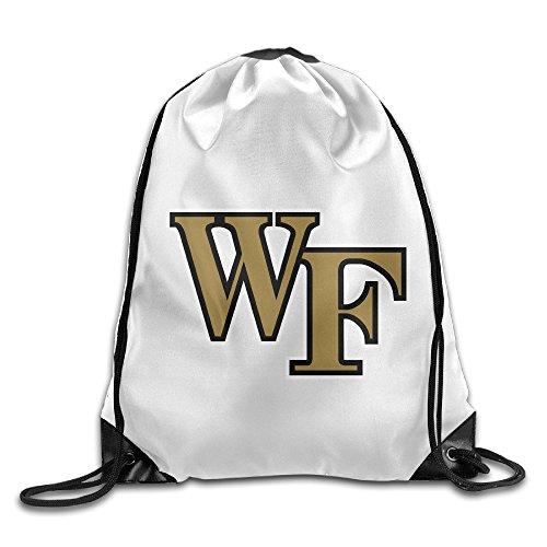 JOKEme Wake Forest Demon Deacons University Logo Drawstring Backpacks/Bags