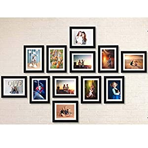 AG Crafts™ Classic Frame with Mount Set of 12 Individual Photo Frames (6″x8″-12 Set with Mount) (Black with Mount)