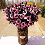 NOMSOCR 10 Pieces Artificial Flower Fake Flower for Wedding Home Office Party Hotel Restaurant Patio Decor or Yard Decorationor (Pink)