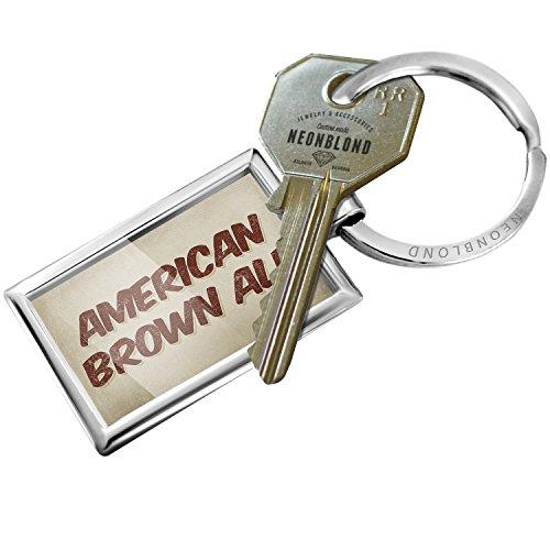 American Brown Ale (Keychain American Brown Ale Beer, Vintage style - NEONBLOND)
