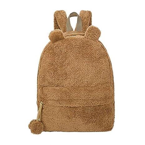 OneMoreT Mochila de peluche con diseño de oso de peluche para mujer, mochilas de adolescentes