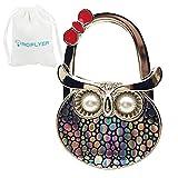 Royceflyer ROFLYER Night Owl Style Butterfly Pattern Design Shoulder Handbag Hangers Folding Purse Holder Hooks (Colorful Dot)