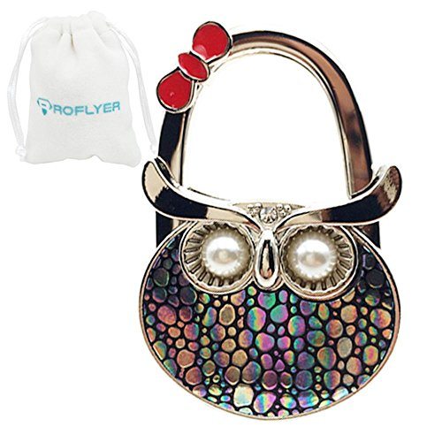 ROFLYER Night Owl Style Shoulder Handbag Hangers Folding Purse Holder Hooks (Colorful - Bar Folding Style