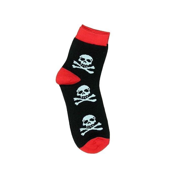 Unisex Mini Calcetines Calavera - Pirata corta vástago Zapatillas Calcetines Talla Única: Amazon.es: Ropa y accesorios