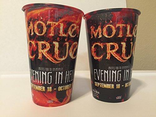 Set of 2 Motley Crue RARE An Evening in Hell Las Vegas 2013 Souvenir Cups