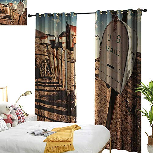 - Davishouse United States Insulated Sunshade Curtain Old Mailboxes in West America Rural Rusty Landscape Grunge Countryside Home Garden Bedroom Outdoor Indoor Wall Decorations 84