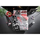 Original Licensed Star Wars Love Valentine's Day Duvet Cover Set, 100% Cotton, Double/Queen Size, 4 Pieces