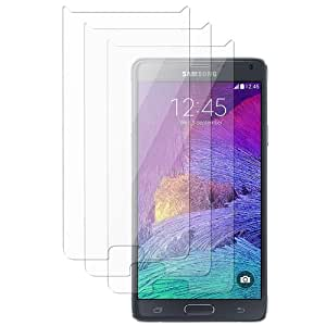 CommonByte Reusable Screen Protector Shield for Samsung Galaxy Note 4 SM-N910 [3pcs-set]