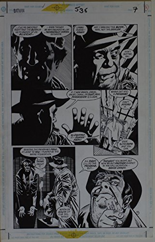 """KELLEY JONES / JOHN BEATTY original art, BATMAN #538 pg 7, 11""""x 17"""", 1996, Drugs"""