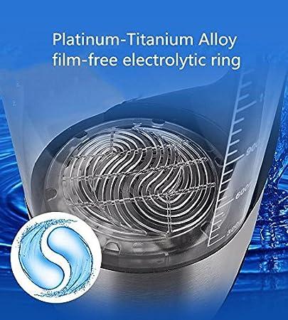 TTYY taza de agua enriquecida con hidrógeno ultra gran capacidad 2 l taza de la salud rica taza de hidrógeno microelectrolysis alta concentración LED ...