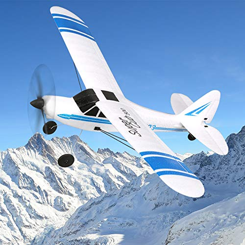 FUNTECH 3 Channel RC Sailplane, RTF Remote Control Airplane with 2.4GHz Control Flying Aircraft for Outdoors Flight Plane,Built in 6 Axis Gyro System Super Easy to Fly from FUNTECH