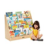 ECR4Kids Birch Hardwood Single-Sided Book Case Display Stand for Kids, 5 Shelves, Natural