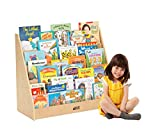 ECR4Kids Birch Plywood Single-Sided Book Display, 15''H, Natural