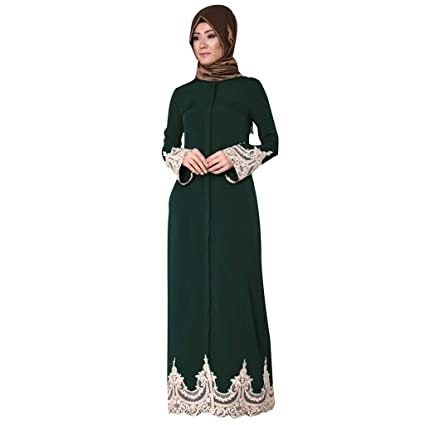 3deff4562c Amazon.com: Women Summer Small Floral Maxi Dress, Lady Fashion Muslim Long  Dress Full Buckle Big Swing Cardigan: Baby