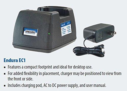 Endura Quad-Chemistry Li-Ion/Li-Po/NIMH/NiCD 120 VAC Desk Charger for Harris Radios. Fits: Harris P5400 / P5500 / 7300 Series & XG-15P / XG-25P / XG-75P