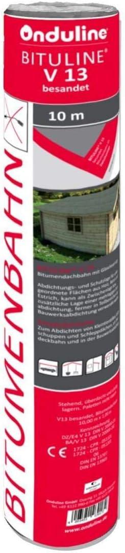 Gartenwelt Riegelsberger Dachpappe V13 besandet 10 m/² Bitumenbahn Bitumen Pappe Dach
