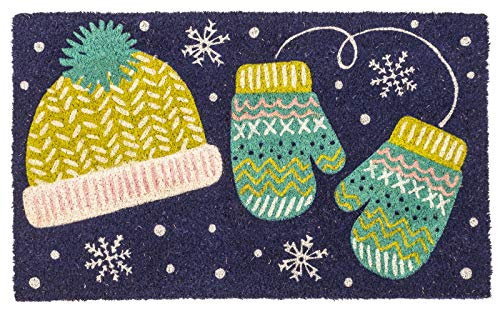 Kensington Row Christmas Collection Door MATS - Warm Woolen Mittens Coir Doormat - 17