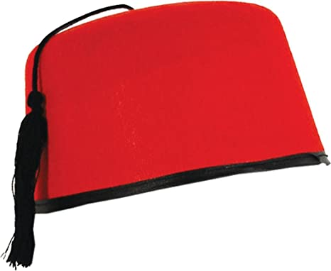 Adult Xmas Party Headwear Moroccan Tommy Cooper Style Turkish Fez Felt Hat  Red  Amazon.co.uk  Clothing b123536326ba
