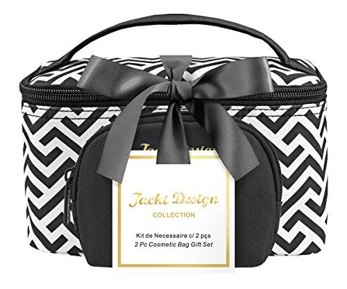 jacki-design-contour-2-peice-cosmetic-fashion-bag-set-black