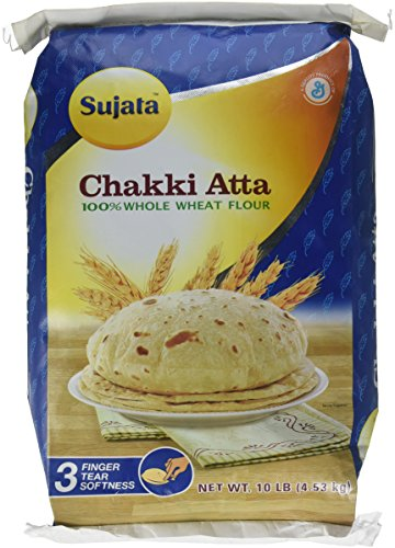 Sujata Chakki Atta, Whole Wheat Flour, 10-Pound Bag