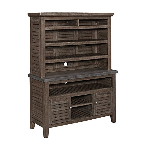 Dining Room Kitchen Hutch - Home Styles 5134-65 Indoor/Outdoor Concrete Chic Buffet and Hutch