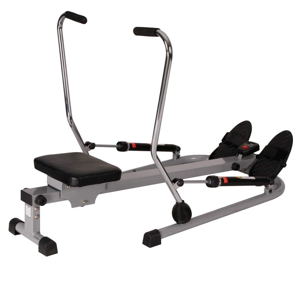 Sunny Health and Fitness 12 Level Resistance Rowing Machine Rower w/Independent Arms (SF-RW5619) with Workout Cooling Towel by Sunny (Image #2)