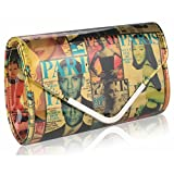 Gorgeous Stylish Multicoloured Clutch Bag | ON SALE FOR £19.99 | FREE UK DELIVERY | SAVE 70%