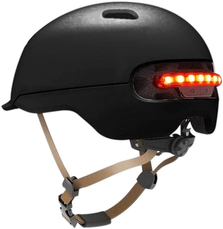chivalrylist Casco de Destello para Xiaomi M365 Patín eléctrico Scooter Coche eléctrico Smart Flash Riding Helmets