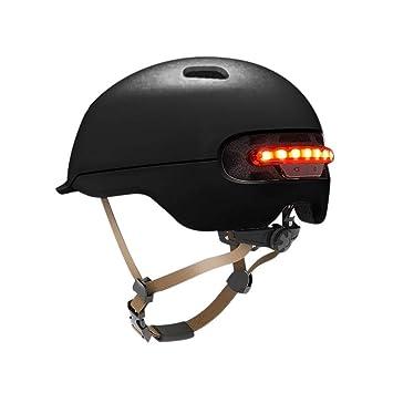Goodtimera Cascos para Montar en Flash, Casco Impermeable Mountain Scooter Protector Smart Flash Electric Skateboard Scooter Casco Ciclista para ...